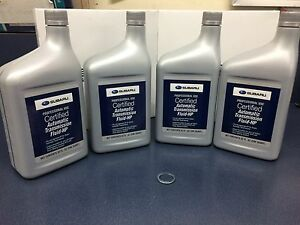 4 Quarts GENUINE SUBARU Automatic Transmission Fluid Set ATF HP P/S SOA427V1500