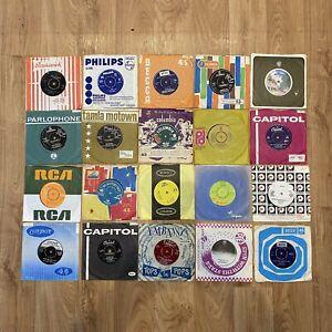 JOB LOT X 20 RECORDS 1950's 60's & 70's VARIOUS ARTISTS SINGLES VINYL RECORDS
