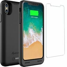 iPhone X Battery Cover 4200mAh Slim Rechargeable Case w/ Qi Wireless Charging
