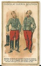 Chromo Guérin Boutron Humour J Minot JM soldat botte militaire