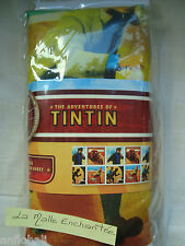 DRAP HOUSE TINTIN ET MILOU HOESLAKEN FITTED SHEET 90 X 190 NEUF