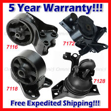 M064 For 03-05 Hyundai Tiburon 2.0L 5 Speed MANUAL Motor & Trans Mount Set 4pcs