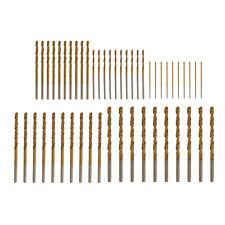 50Pcs QUALITY TITANIUM HSS TWIST DRILL BIT SET For Plastic/ Wood/ Metal DIY