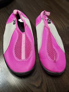 Womens Triangle Size 6 Water Shoes Boat Beach Pink Gray Summer Non Slip