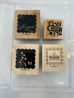 Stampin' Up! Say It With Scallops-Set of 4 Stamps - Scrapbooking Crafts Card Art