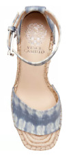 NIB Vince Camuto Blue Leather Wedge Open Toe Sandals $99.00