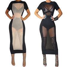 Unbranded Mesh Short Sleeve Dresses for Women