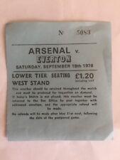 Ticket : Arsenal V. Everton 18/09/1976