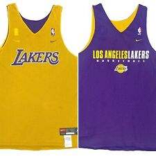 Vintage Nike Team LA Lakers Reversible Practice Warmup Jersey Size Large RARE!!
