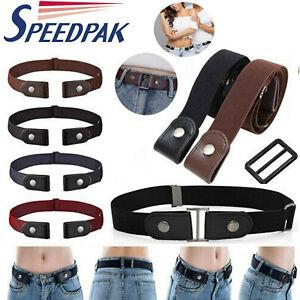 1* Buckle-free Elastic Invisible Waist Belt for Jeans No Bulge Hassle Men Women