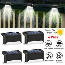 4 paquetes de luz solar LED Brillante Cubierta al Aire Libre-Lámpara de ruta de cubierta jardín de barandilla