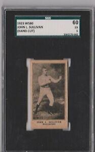 1923 W580 John L. Sullivan Hand Cut SGC 60 P931