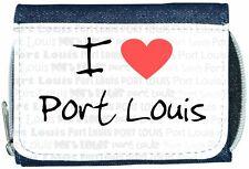 I Love Heart Port Louis Denim Wallet