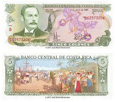 COSTA RICA 5 i cloni P-236e 1991 data RARA BANCONOTE UNC
