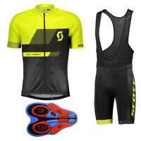 Team Mens Cycling Jersey Set Short Sleeve Shirts Gel Shorts Suit Sports Uniform
