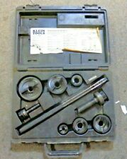 New listing Klein Tools Knockout Punch Set with Wrench with Hard Case Used Ships Free