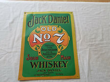 JACK DANIEL OLD No.7 WHISKEY TIN METAL ADVERTISING BAR WALL SIGN
