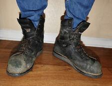 Used Worn JB Goodhue Ironworker Plus Safety Industrial Black Work Boots 12 EEE