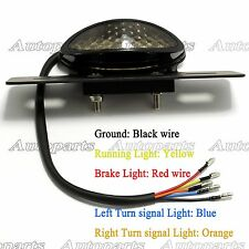 Smoke LED Motorcycle Brake Tail Turn Signal License Plate Integrated Light ATVs