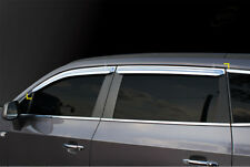 Chrome Window Vent Visor Rain Guard Tape On 4pc For Chevy Orlando 2011 - 2018