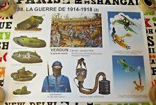 Objet de Métier Affiche Scolaire la Grande Guerre Verdun 1914 / 1918  Tank