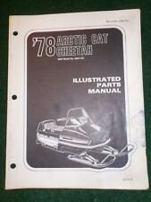 1978 Arctic Cat Snowmobile Illustrated Parts Manual Cheetah 0250-183 Dealer