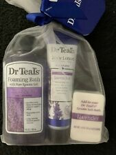 DR TEALS GIFT SET Foaming bath, Lavender lotion & Epsom Salt bath bomb