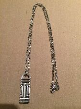 TORY BURCH FITBIT PENDANT SILVER NECKLACE