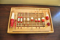 Set of 12 Vintage Wooden Bobbers
