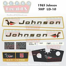 1965 Johnson 5HP LD-10 Sea Horse Outboard Reproduction 8 Pc Marine Vinyl Decals