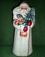 Alter Christbaumschmuck Weihnachtsmann Nikolaus Pappe, Candy Box 32cm 30er Rar