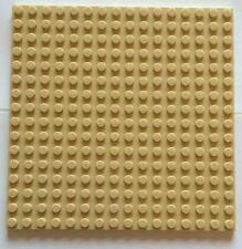 "Lego Plate Platform 16x16 Dot Tan Base 5""x 5"" Roof Floor Sand 16 X16 Bricks"