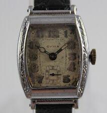 VTG Swiss Made CYMA Art Deco 15 Jewels 2 Adj Men's Wrist Watch lot.d6
