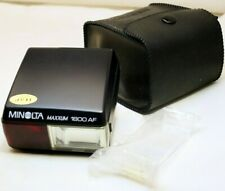Minolta Maxxum 1800 AF Flash Genuine for X-700 X-370 SLR cameras w/ diffuser