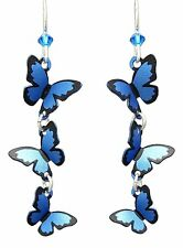 BLUE MORPHO BUTTERFLIES Hypo-Allergenic Earrings, by Sienna Sky