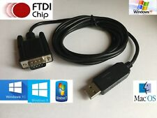 FTDI USB a macho Conversor/Adaptador Serial RS232 DB9, 1.8m de largo cable apantallado.