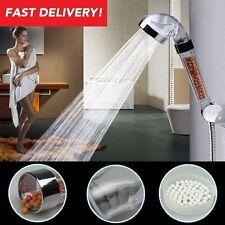 Transparent Water saving Shower Heads Round Handheld Anion SPA bath shower head