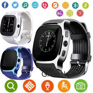 Women Men Bluetooth Smart Watch Unlocked Phone For Samsung Galaxy S9 S8 LG Stylo