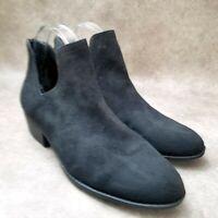 Falls Creek Womens Nicole  Sz 10 M Black  Ankle Boots Booties