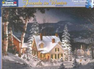 Fred Swan White Mountain Jigsaw Puzzle Friends in Winter NIB