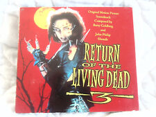 Return Of The Living Dead 3 Soundtrack Cd Digipak Horror Gore Barry Goldberg