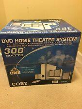COBY DVD-755 HOME THEATER SYSTEM 5.1 CHANNEL SURROUND SOUND 300 WATT SPEAKER
