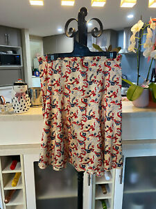 Alannah Hill ' All Gussied Up ' Silk Cotton Ribbons Pearls Ruffle Skirt Size 10