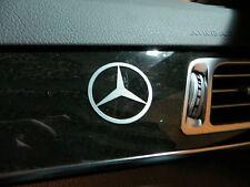(2pcs) dashboard badge sticker decal MBZ *LOGO*