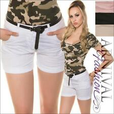 Patternless Casual Shorts for Women