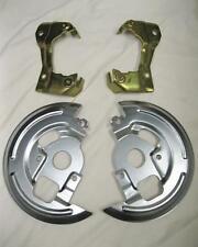 1962-1967 Chevy Nova Disc Brake Caliper Brackets + Backing Plates Dust Shields