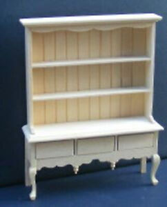 Natural Finish Wood Queen Anne Dresser Tumdee 1:12 Scale Dolls House Kitchen 099