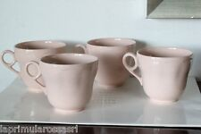 TRE TAZZE DA TE' D'EPOCA IN CERAMICA COLORE ROSA - THREE VINTAGE  HANDLE CUPS