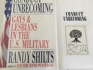 1st/1st CONDUCT UNBECOMING by Randy Shilts  (1993 hardcover) Signed bookplate