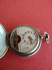 Rare Full Hunter 8 Days HEBDOMAS Pocket Watch _355